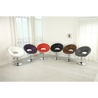 Bonded Leather/Chrome Adjustable Swivel Chair