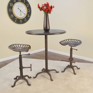 Selma Brown Metal/Cast Iron 30-inch Round Bar Table|https://ak1.ostkcdn.com/images/products/12151688/P19005944.jpg?impolicy=medium
