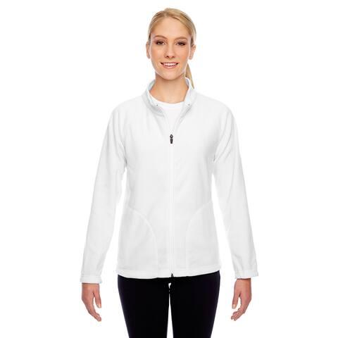Campus Women's White Microfleece Jacket