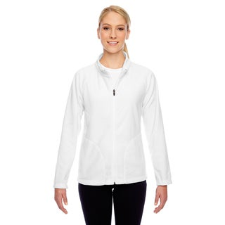 Campus Women's White Microfleece Jacket