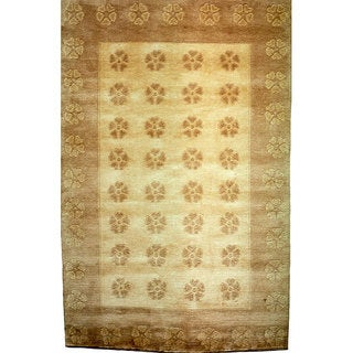 Abbyson Living Hand-knotted 'Oceans of Time' Wool Rug (9' x 12')