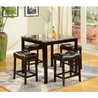 Five Piece Counter HighTable & Stool Set