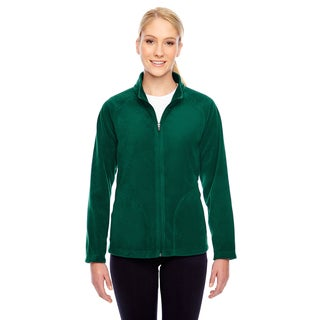 Campus Women's Green Microfleece Sports Jacket