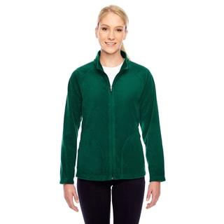 Campus Women's Green Microfleece Sports Jacket