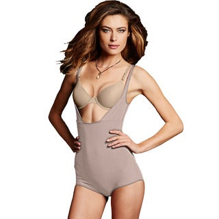 Maidenform Women's Smoothers Wear Your Own Bra Nude Cotton, Nylon, Spandex Body Briefer