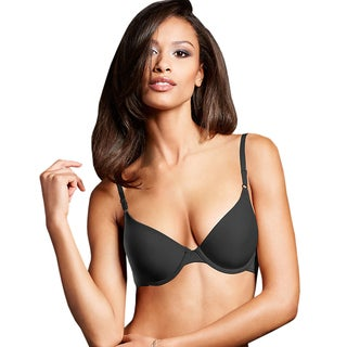 Maidenform Women's One Fab Fit Black Original Tailored Demi T-shirt Bra