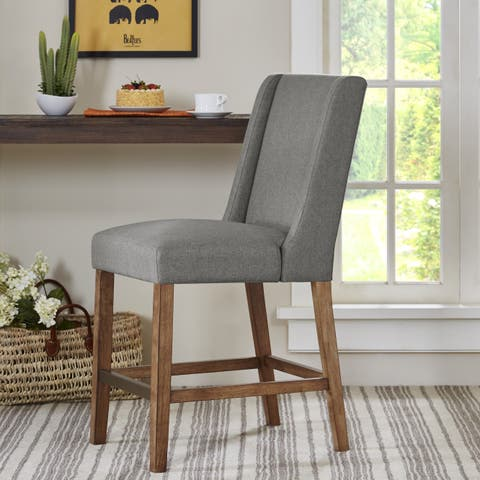 """Madison Park Victor Grey Wing Counter Stool - 19""""w x 24.75""""d x 41.5""""h"""