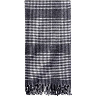 Pendleton 5th Avenue Charcoal Plaid Throw