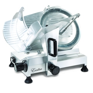 Excalibur EPS009 Silvertone Aluminum 9-inch Commercial Food Slicer