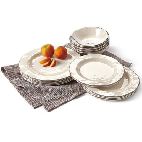 TAG Veranda Melamine Dinner Plates Ivory