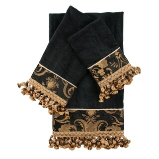 Sherry Kline China Art Black 3-piece Decorative Towel Set