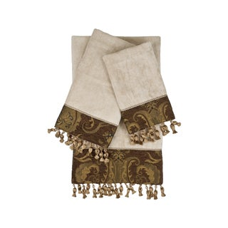 Sherry Kline China Art Brown 3-piece Decorative Towel Set