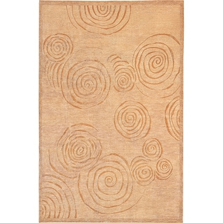 Abbyson Living Hand-knotted Oceans of Time Himalayan Sheep Wool Rug (6' x 9')