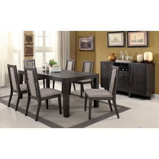 Furniture of America Basson Rustic Grey Expandable Dining Table