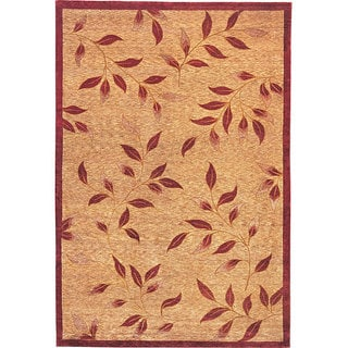 Abbyson Living Hand-knotted 'Moments' Gold Wool Rug (6' x 9')