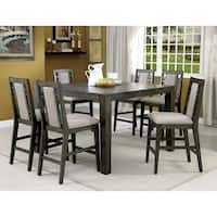 Furniture of America Basson Rustic Grey Expandable Counter Height Table