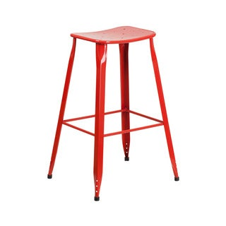 Offex Metal 30-inch High Backless Design Indoor/Outdoor Barstool