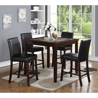 LYKE Home Allie 5-piece Square Pub Dining Set