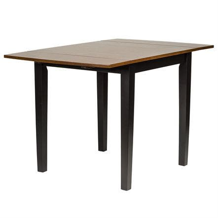 Cafe Back and Cherry Drop Leaf Dinette Table - Black Cherry Finish
