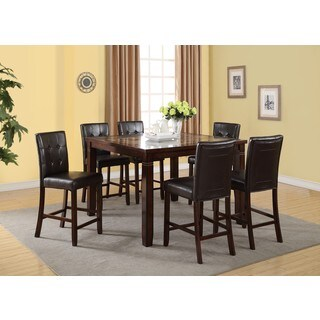 LYKE Home Elsa Square Faux Marble Counter Height Dining Table