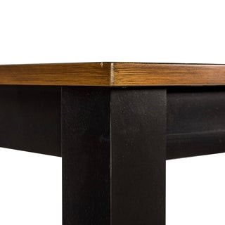 Cafe Back and Cherry Leg Dinette Table - Black Cherry Finish