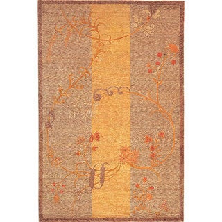 Abbyson Living Hand-knotted 'Memories' Ivory Wool Area Rug (6' x 9')