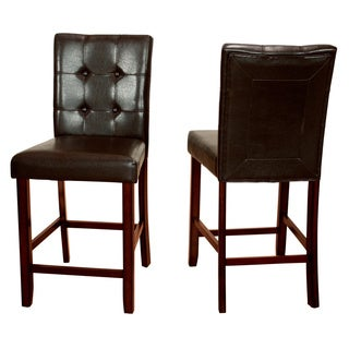 LYKE Home Elsa Set of 2 Brown Counter Height Chairs