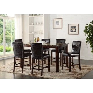 LYKE Home Elijah Rectangular Faux Marble Counter Height Dining Table