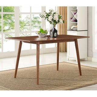modern dining room pictures. Carson Carrington Skara 60-inch Brown Mid-Century Dining Table Modern Room Pictures
