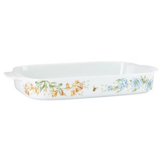 Lenox Butterfly Meadow White Ceramic Loaf Pan