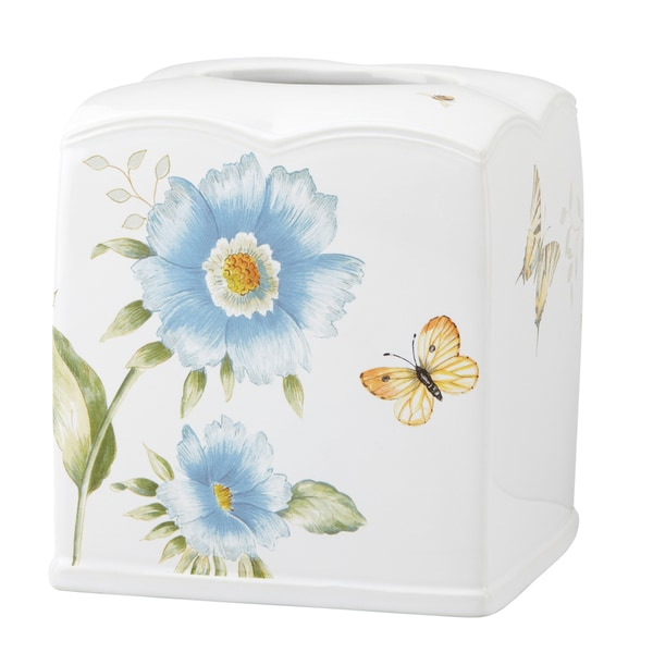 Shop Lenox Butterfly Meadow Blue Tissue Holder Free
