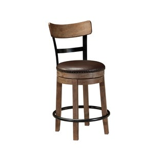 Signature Design by Ashley Pinnadel Light Brown Swivel Barstool