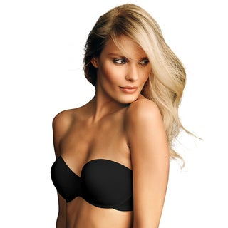 Maidenform Live in Luxe Women's Black/Grey Strapless Bra