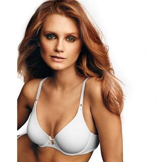 Maidenform Women's One Fab Fit White/Paris Nude No Slip Strap Tailored Demi Bra