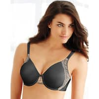 Bali Women's One Smooth Black/Nude Combo U-side Support Underwire Bra