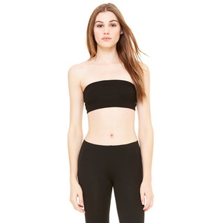 Women's Black Cotton/Spandex Bandeau Back Top