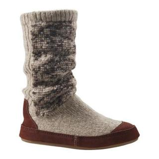 Women's Acorn Slouch Boot Tribal Tan Knit (3 options available)