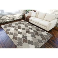 Hand-Tufted Moroccan Elephant Wool Area Rug - 9' x 13'