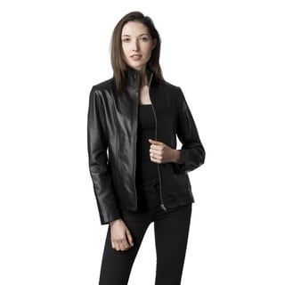 Mason & Cooper Women's Black/Brown Leather Jacket