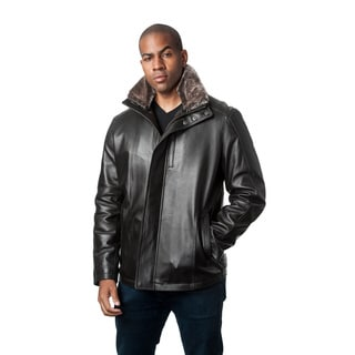 Mason & Cooper Men's Fully Lined Leather Jacket
