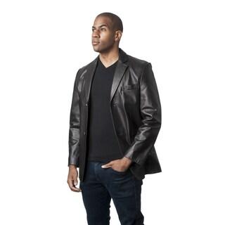 Mason & Cooper Men's Black/Brown Leather Jacket