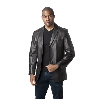 Mason & Cooper Men's Black/Brown Leather Jacket (More options available)