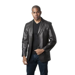 Mason & Cooper Men's Black/Brown Leather Jacket