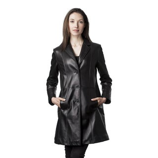 Mason & Cooper Women's Black Lambskin Fully Lined Trench