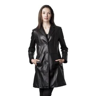 Mason & Cooper Women's Black Lambskin Fully Lined Trench|https://ak1.ostkcdn.com/images/products/12152400/P19006517.jpg?_ostk_perf_=percv&impolicy=medium