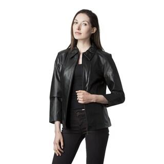 Wilda Women's Leather Fully Lined Scuba Jacket