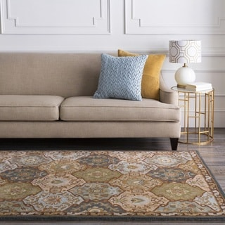 Hand-Tufted Coliseum Wool Rug (4' Square)