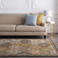 Hand-Tufted Coliseum Wool Area Rug - 4' x 4'