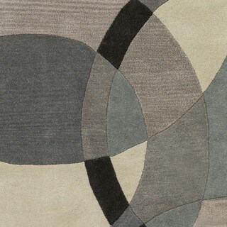 Hand-Tufted Contemporary Mayflower Circles Wool Rug (4' Round)