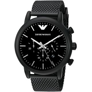 Emporio Armani Men's AR1968 'Luigi' Chronograph Black Stainless Steel Watch